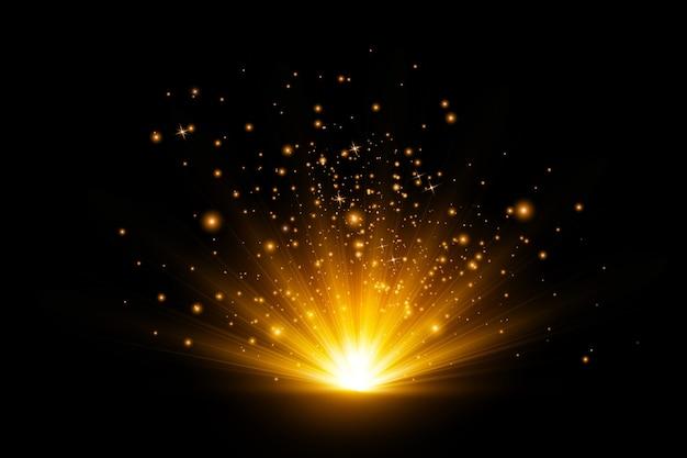 Conceito de fundo do efeito da luz das estrelas