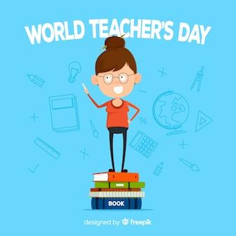 Conceito de fundo do mundo professores dia