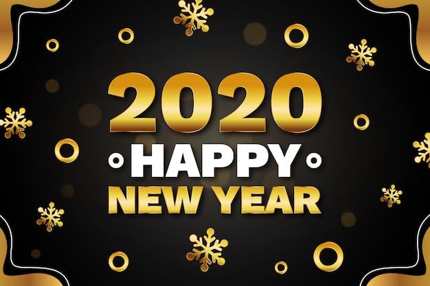 Conceito de fundo dourado ano novo 2020