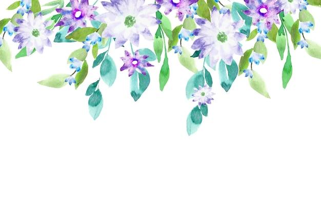 Conceito de fundo floral colorido em aquarela