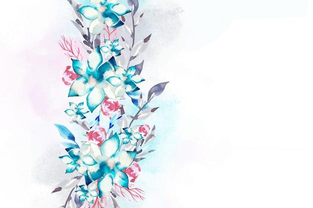 Conceito de fundo floral em aquarela