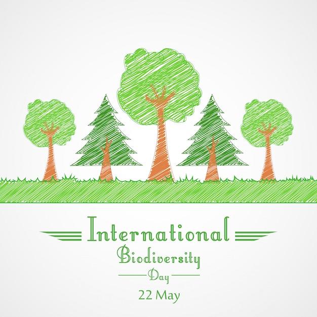 Conceito de fundo internacional do dia da biodiversidade