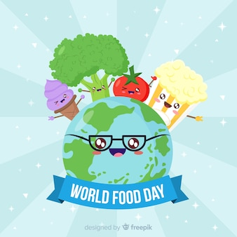 Conceito de fundo moderno mundo comida dia