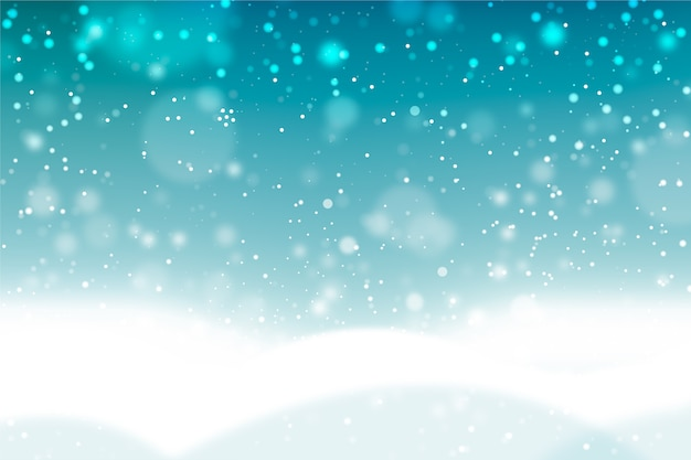 Conceito de fundo realista queda de neve