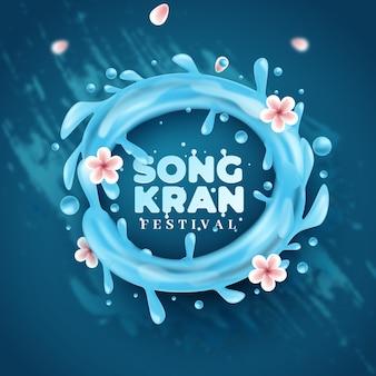 Conceito de fundo realista songkran