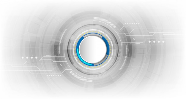 Conceito de fundo tecnológico abstrato com vários elementos de tecnologia
