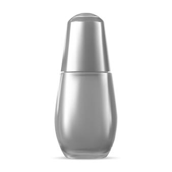 Conceito de garrafa de essência. soro de perfumaria em branco