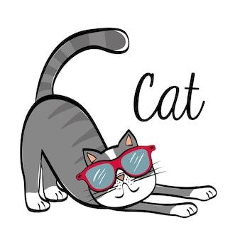 Conceito de gato com design de ícone