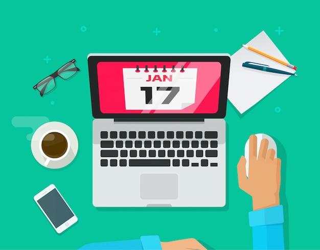 Conceito de gerenciamento de planejamento de datas de eventos de calendário