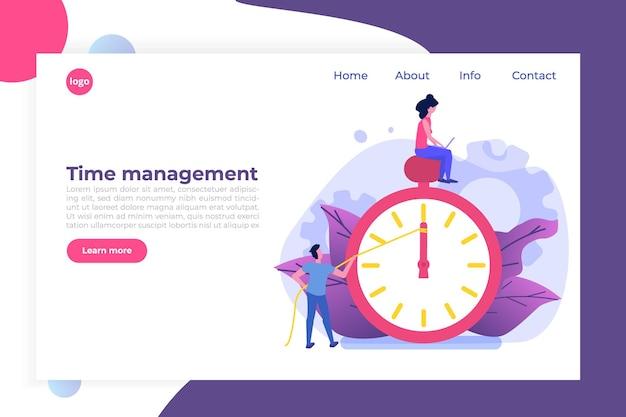 Conceito de gerenciamento de tempo, aplicativo de agendamento de negócios.