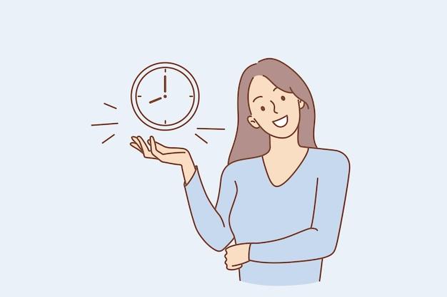 Conceito de gerenciamento de tempo e alarme bem-sucedido