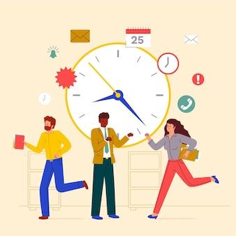 Conceito de gerenciamento de tempo ilustrado