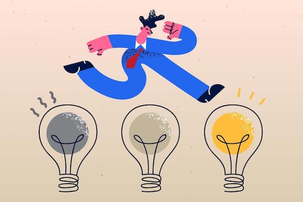 Conceito de gestão de mudança de transformação de inovação empresarial