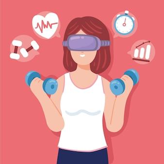 Conceito de ginásio virtual