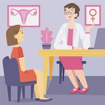 Conceito de ginecologia com médico