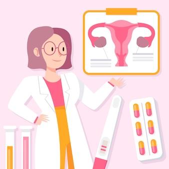 Conceito de ginecologia com profissional