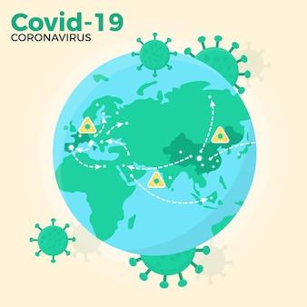 Conceito de globo de coronavírus