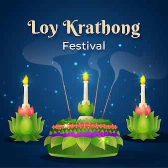 Conceito de gradiente loy krathong
