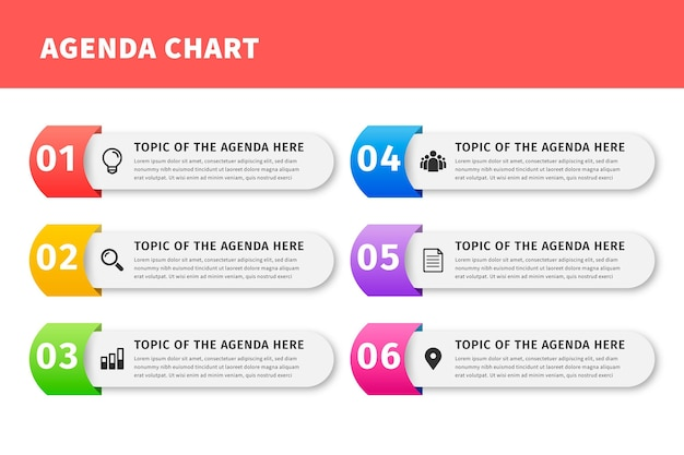 Conceito de gráfico de agenda