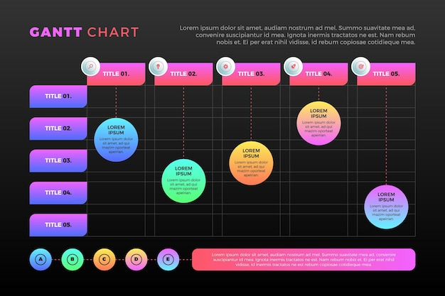 Conceito de gráfico de gradiente de gantt