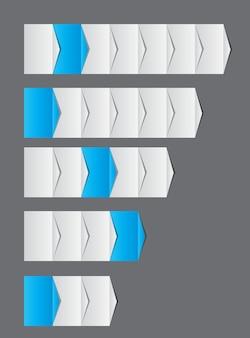 Conceito de gráfico de melhorias de processos de negócios. ilustração vetorial