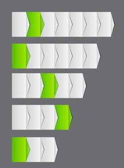 Conceito de gráfico de melhorias de processos de negócios. vector illustra