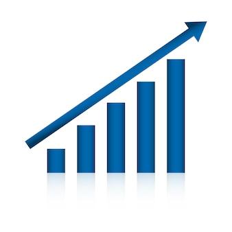 Conceito de gráfico de negócios