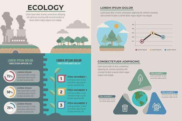 Conceito de gráficos de infográficos de ecologia