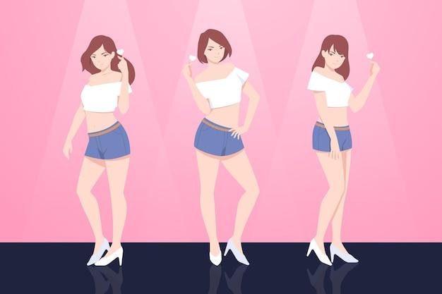 Conceito de grupo de garotas k-pop