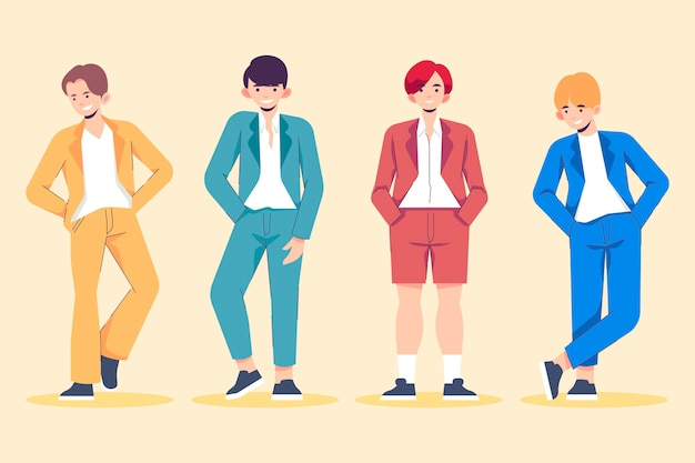 Conceito de grupo de garotos do k-pop