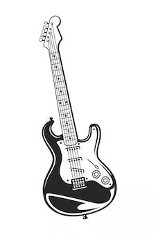 Conceito de guitarra monocromática vintage