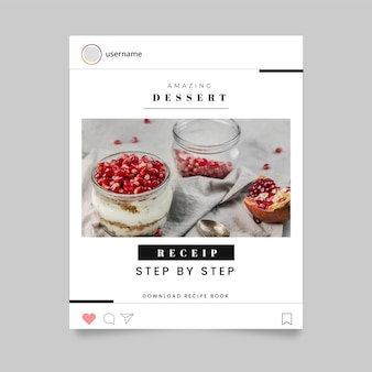 Conceito de história de instagram de alimentos