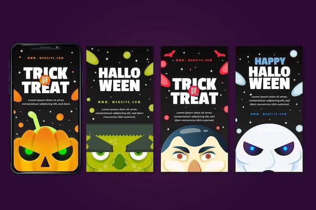Conceito de histórias do instagram do festival de halloween