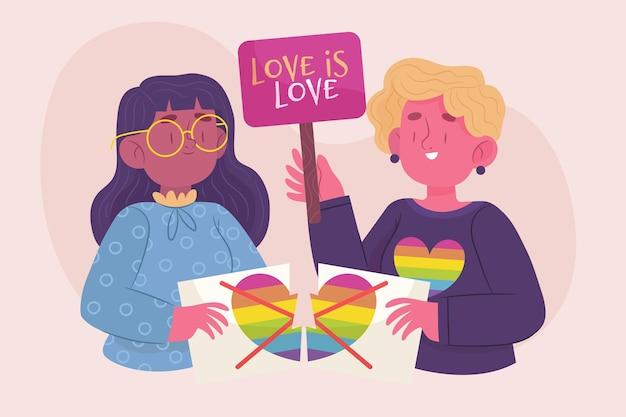 Conceito de homofobia colorido