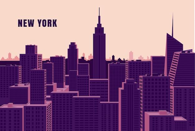Conceito de horizonte de nova york