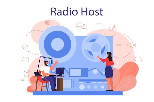 Conceito de host de rádio