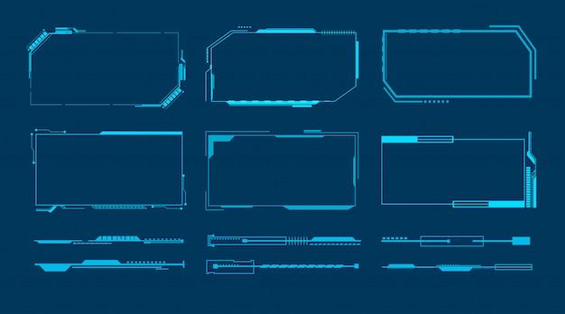 Conceito de hud de interface futurista de tecnologia abstrata.