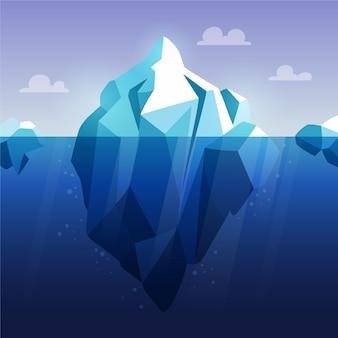 Conceito de iceberg de design plano