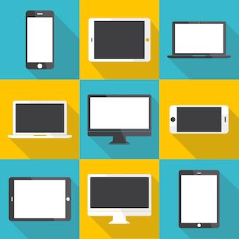 Conceito de ícone de dispositivo digital de tecnologia