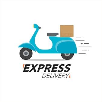 Conceito de ícone de entrega rápida