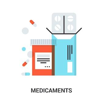 Conceito de ícone de medicamentos