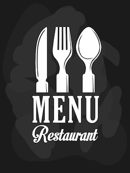 Conceito de ícone de restaurante com design de ícone