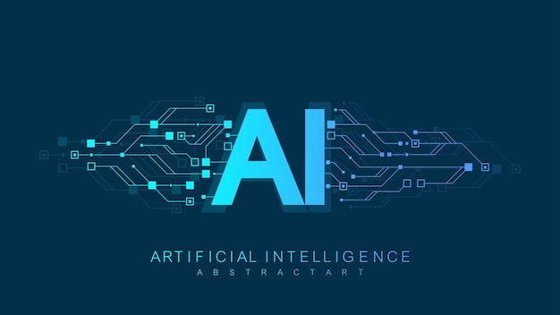 Conceito de ícone do logotipo de inteligência artificial