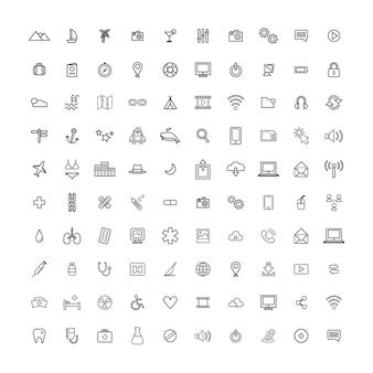 Conceito de ícone universal de ilustração ui