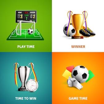 Conceito de ícones de futebol