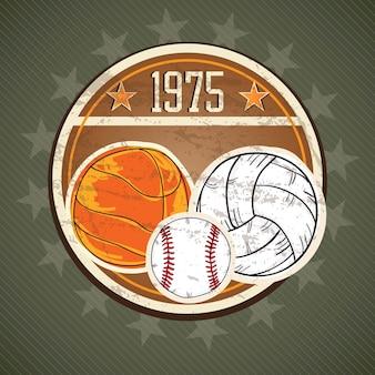 Conceito de ícones do esporte (diferentes elementos e objetos)