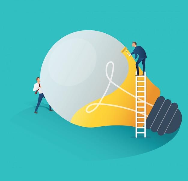Conceito de idéia criativa de pessoas de negócios