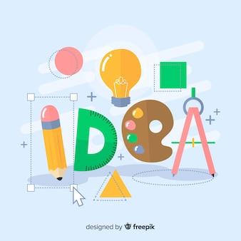 Conceito de idéia de design gráfico