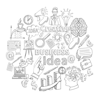 Conceito de ideia de negócio criativo