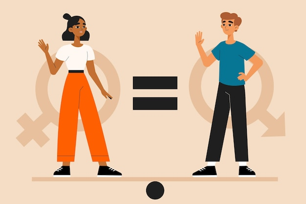 Conceito de igualdade de gênero